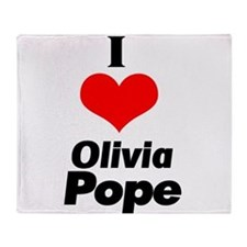 I heart Olivia Pope black Throw Blanket