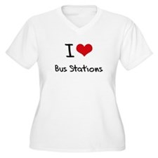 I Love Bus Stations Plus Size T-Shirt
