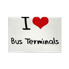 I Love Bus Terminals Rectangle Magnet
