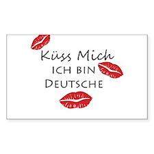 Kuss Mich Ich Bin Deustche Kiss Me I am German Sti