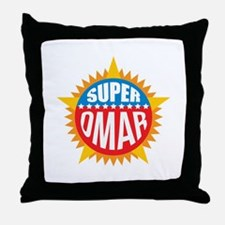 Super Omar Throw Pillow