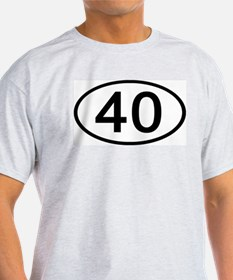 Number 40 Oval Ash Grey T-Shirt