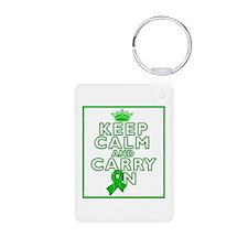 TBI Keep Calm Carry On Keychains