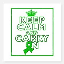 "TBI Keep Calm Carry On Square Car Magnet 3"" x 3"""