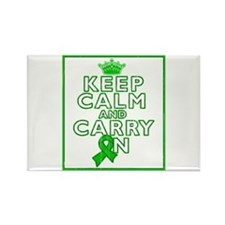 TBI Keep Calm Carry On Rectangle Magnet