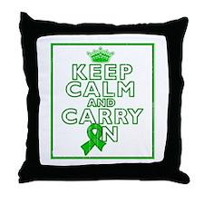 TBI Keep Calm Carry On Throw Pillow