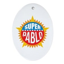 Super Pablo Ornament (Oval)