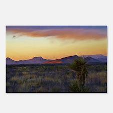 a desert evening Postcards (Package of 8)