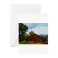 Barn in the Rockies Greeting Card