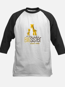 Custom Giraffe Big Sister-to-Be Kids Baseball Jers