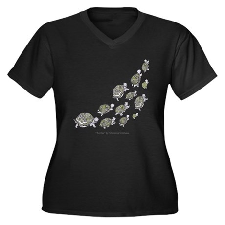 SEA TURTLE HATCHLINGS - Plus Size V Neck T-Shirt