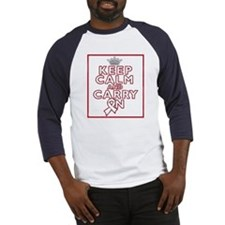 Scoliosis Keep Calm Carry On Baseball Jersey