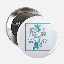 """PKD Keep Calm Carry On 2.25"""" Button"""