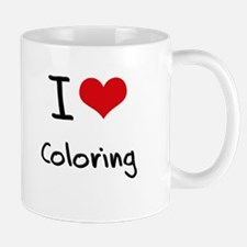 I Love Coloring Mug