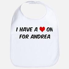 Heart on for Andrea Bib