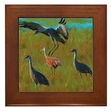 Cranes of Bitterlake Framed Tile