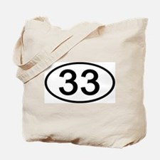 Number 33 Oval Tote Bag