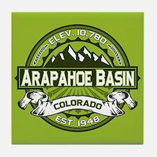 Arapahoe Basin Green Tile Coaster