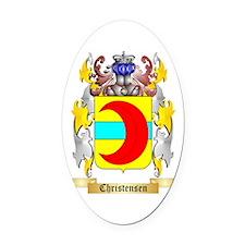 Christensen (Denmark) Oval Car Magnet