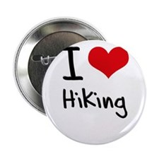 "I Love Hiking 2.25"" Button"