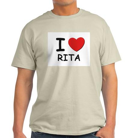 I love Rita Ash Grey T-Shirt
