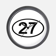 Number 27 Oval Wall Clock