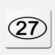 Number 27 Oval Mousepad