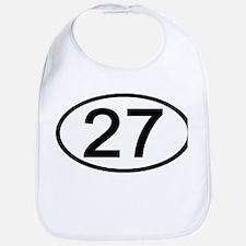 Number 27 Oval Bib