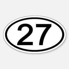 Number 27 Oval Oval Decal