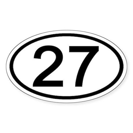 Number 27 Oval Oval Sticker