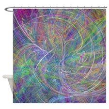 Heart of Light Abstract Shower Curtain