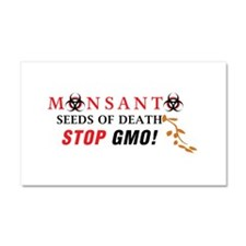 SEEDS OF DEATH STOP GMO Car Magnet 20 x 12