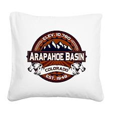 Arapahoe Basin Vibrant Square Canvas Pillow