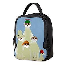 Meerkats Neoprene Lunch Bag