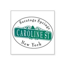 "Caroline Street Square Sticker 3"" x 3"""