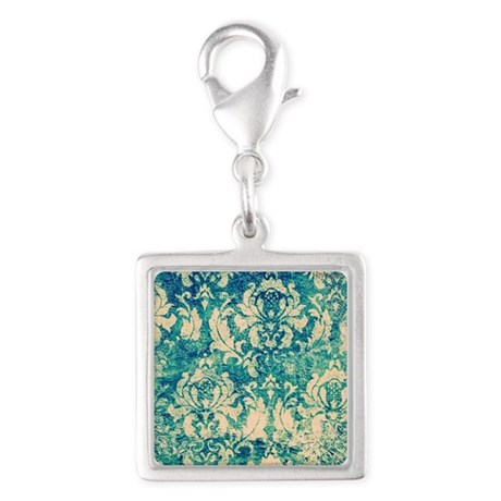 Vintage teal background Charms