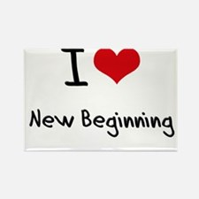 I Love New Beginning Rectangle Magnet