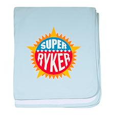 Super Ryker baby blanket