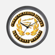 Communications Officer - Merchant Marine Wall Cloc