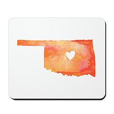 Oklahoma Love Watercolor Mousepad