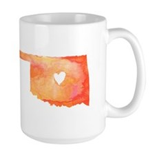 Oklahoma Love Watercolor Mug