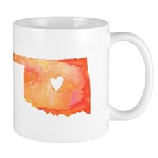 Oklahoma Love Watercolor Mug