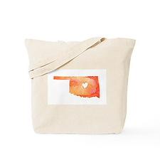 Oklahoma Love Watercolor Tote Bag