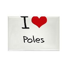 I Love Poles Rectangle Magnet