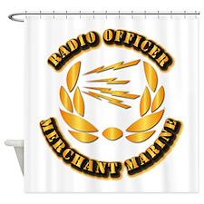 Radio Officer - Merchant Marine Shower Curtain