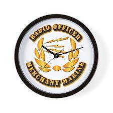 Radio Officer - Merchant Marine Wall Clock