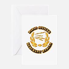 Radio Officer - Merchant Marine Greeting Card