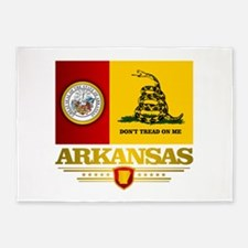 Arkansas Gadsden Flag 5'x7'Area Rug
