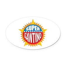Super Santino Oval Car Magnet