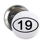 Number 19 Oval Button
